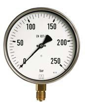 D10, Industrie-Manometer, radial