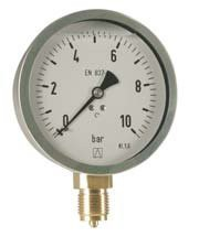 D11, Industrie-Manometer/Glyzerin, radial